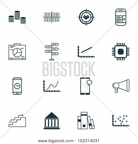 Set Of 16 Universal Editable Icons For Computer Hardware, Human Resources And Education Topics. Incl