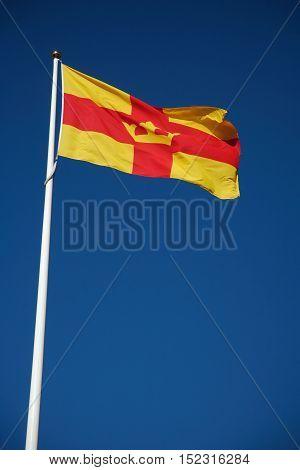 SALEM, SWEDEN - June 15, 2012: Flag belonging to the religious community