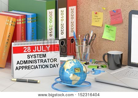 System Administrator Appreciation Day SysAdmin Day concept 3D rendering