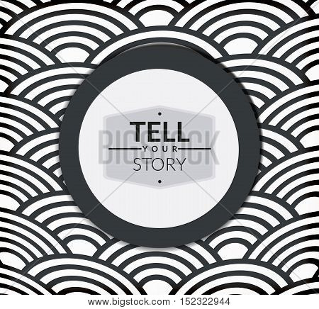 Retro stilized circle brochure design vector illustratiom