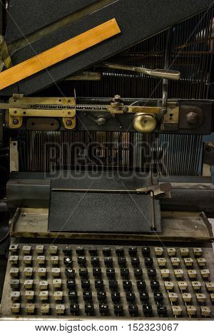 Old Fashioned Vintage European Typewriter Press Printer Book Writing Historical Device German Language Keys