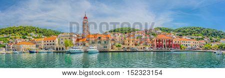 Picturesque mediterranean town Pucisca in Croatia, Europe.