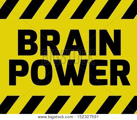 Brain Power Sign