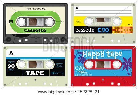 Plastic Audio Cassette Tapes