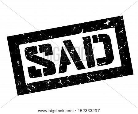 Sad Rubber Stamp