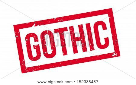 Gothic Rubber Stamp