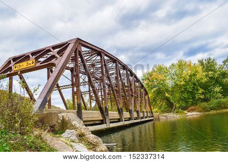 Historic Bridge crossing Tionesta Creek in Western Pennsylvania.