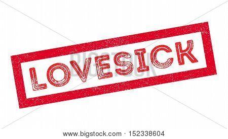 Lovesick Rubber Stamp