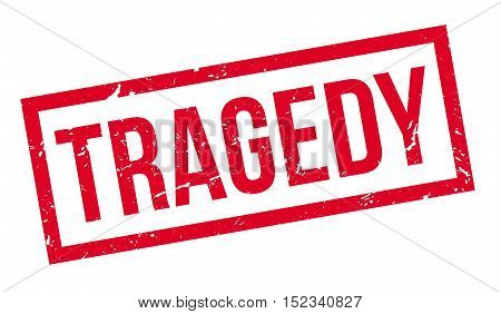 Tragedy Rubber Stamp