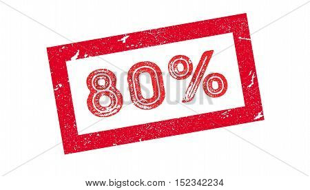 80 Percent Rubber Stamp