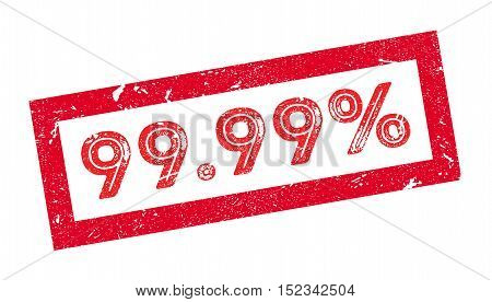 99.99 Percent Rubber Stamp