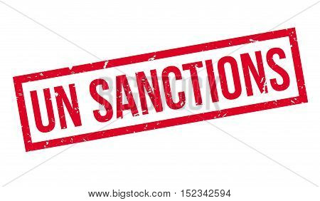 Un Sanctions Rubber Stamp