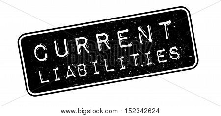 Current Liabilities Rubber Stamp