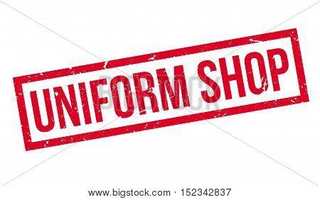 Uniform Shop Rubber Stamp