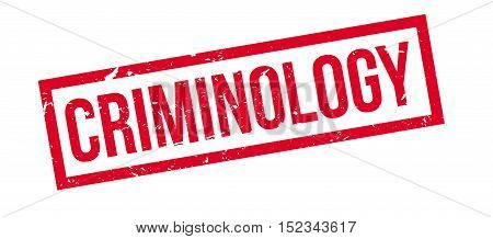 Criminology Rubber Stamp