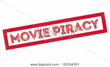 Movie Piracy Rubber Stamp