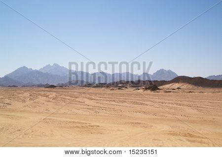 Arabische woestijn en de bergen van de rode zee
