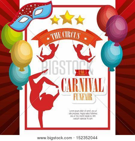 entertainment carnival funfair banner vector illustration design
