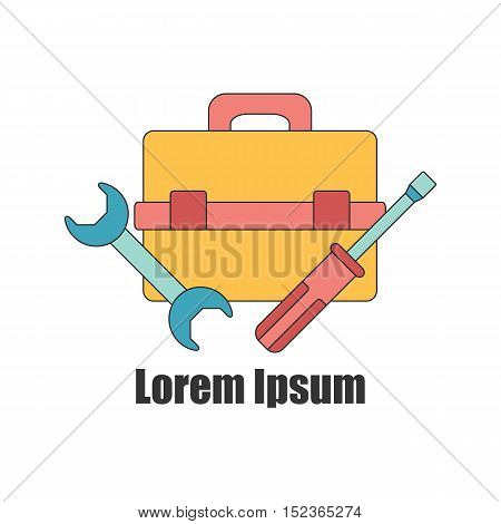 Vector Illustration With Repair Tools