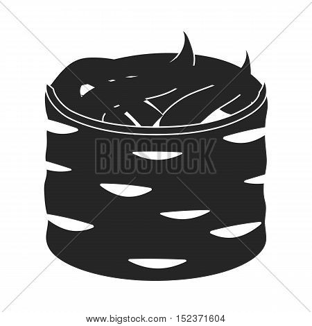 Gunkan maki icon in  black style isolated on white background. Sushi symbol vector illustration.