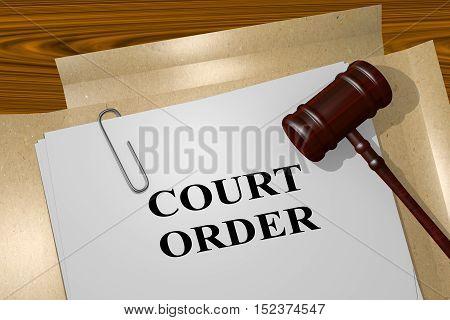 Court Order Concept