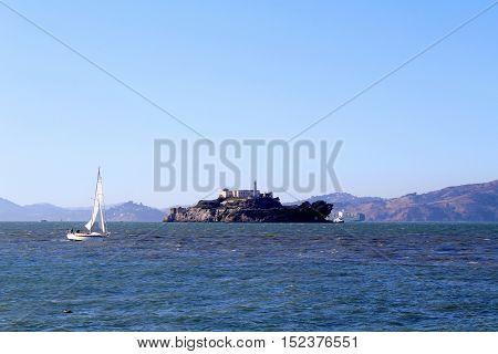 Alcatraz Island in San Francisco, California, USA.