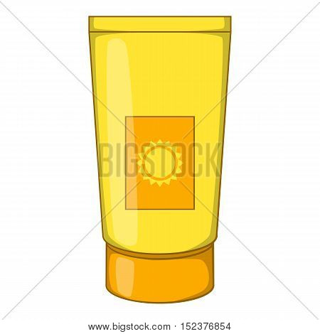 Sun lotion icon. Cartoon illustration of sun lotion vector icon for web