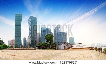 Shanghai city view with oriental pearl tower landmark of Shanghai.