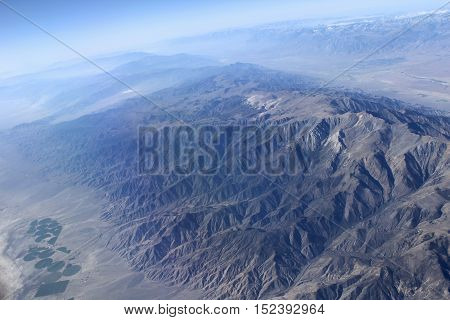 Grand Canyon aerial view. Beautiful picturesque landscape of American canyons.