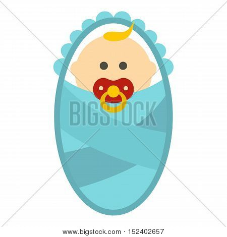 Newborn baby icon. Flat illustration of newborn vector icon for web design