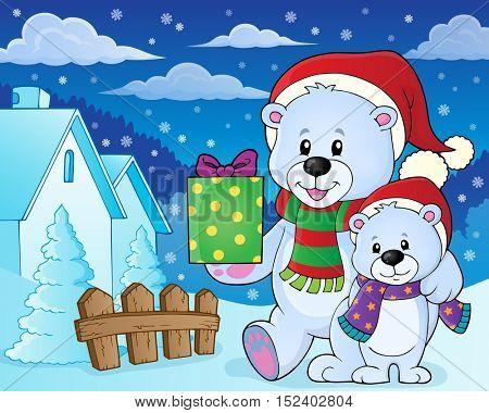 Christmas bears theme image 7 - eps10 vector illustration.