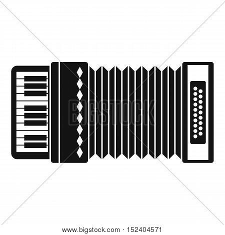 Accordion icon. Simple illustration of accordion vector icon for web