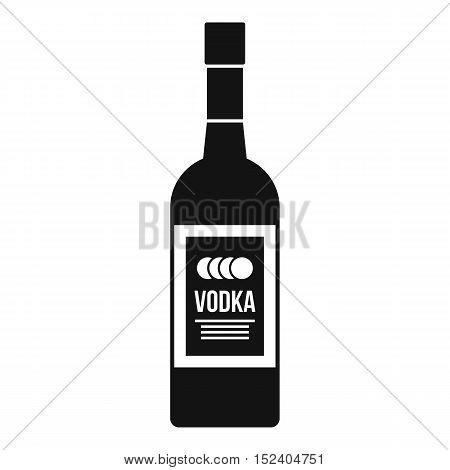Bottle of vodka icon. Simple illustration of vodka bottle vector icon for web