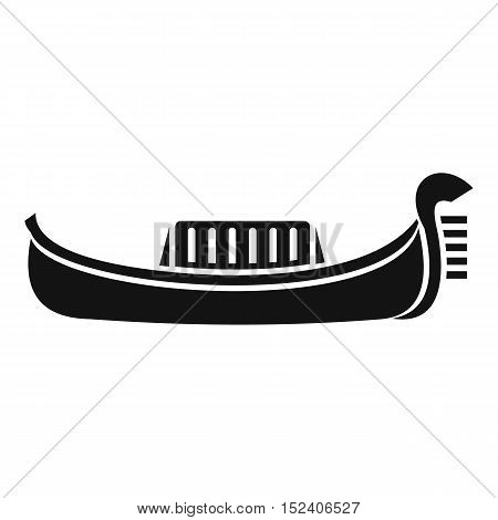 Venice gondola icon. Simple illustration of gondola vector icon for web