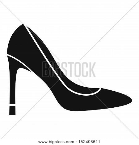 High heel shoe icon. Simple illustration of high heel shoe vector icon for web