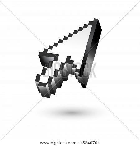 3d arrow cursor vector