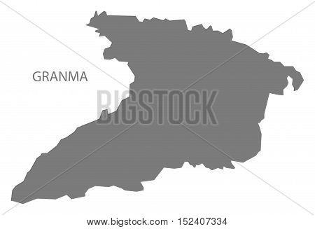 Granma Cuba Map grey illustration high res