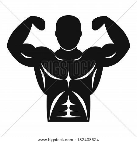 Athletic man torso icon. Simple illustration of athletic man torso vector icon for web