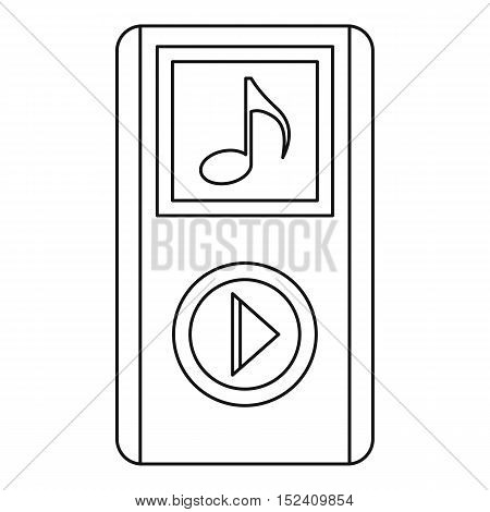 Portable media player icon. Outline illustration of portable media player vector icon for web