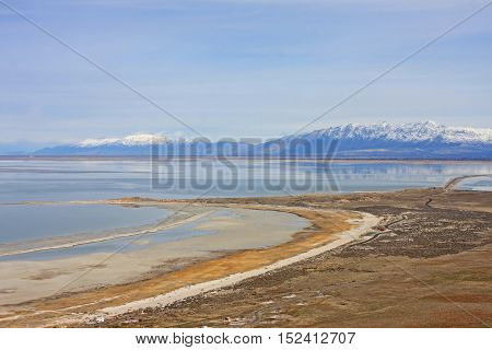 Beach on Antelope Island in the Great Salt Lake, Utah