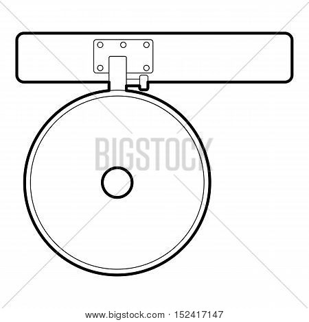 Headlamp reflector icon. Outline illustration of headlamp reflector vector icon for web design