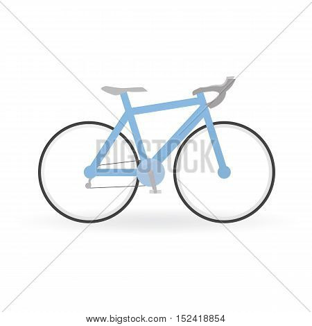 Bicycle Concept By Mountain Bike Is Blue Color