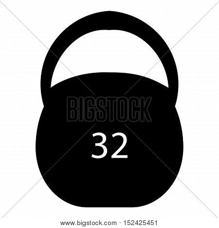 Weight thirty two pounds icon. Simple illustration of weight thirty two pounds vector icon for web