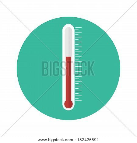 Thermometer icon. Thermometer in a flat style