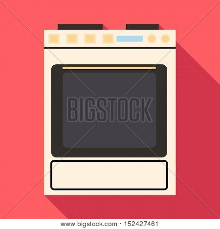 Gas stove icon. Flat illustration of gas stove vector icon for web