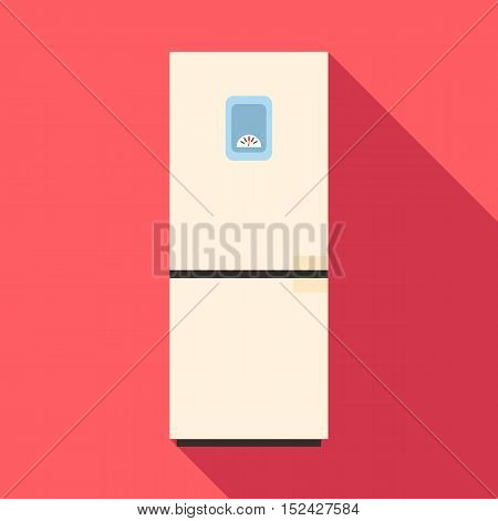 Refrigerator icon. Flat illustration of refrigerator vector icon for web