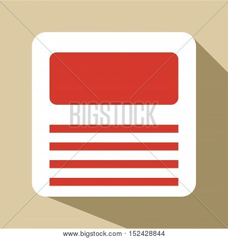 Floppy icon. Flat illustration of floppy vector icon for web