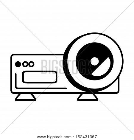 video projector device isolated icon vector illustration design