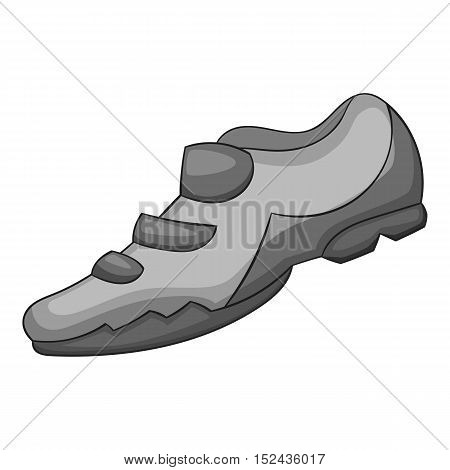 Sneakers for biker icon. Gray monochrome illustration of sneakers for biker vector icon for web