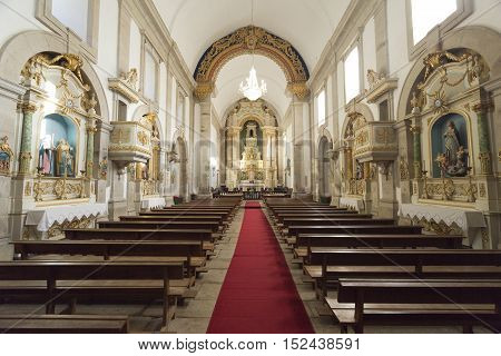 PENEDA, PORTUGAL - October 8, 2016: General view of the interior of the Church of Our Lady in the Peneda Geres National Park North of Portugal